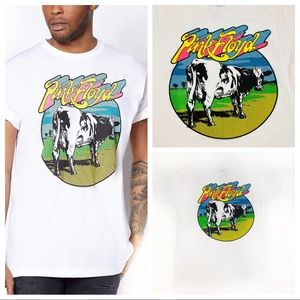 Pink Floyd Cow Graphic Tee T Shirt Liquid Blue M